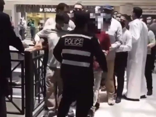 Kuwait security official questioned for slapping mall employee