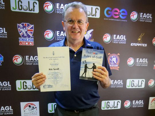 Nick Tarratt has been appointed as Tournament Director for the Emirates Amateur Golf League (EAGL) Mini-Series
