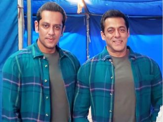 Salman Khan's Pic With Body Double Parvez Kazi From Radhe Sets