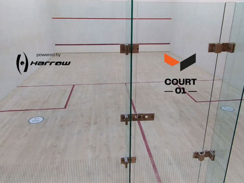The Flying Daf academy has five world-class squash courts