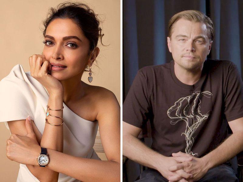 Deepika Padukone and Leonardo DiCaprio