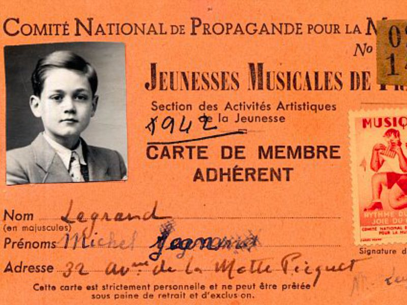 In 1942, the year before he entered the Paris Conservatoire, Michel Legrand's mother, Michelle, registered him with Jeunesses Musicales de France