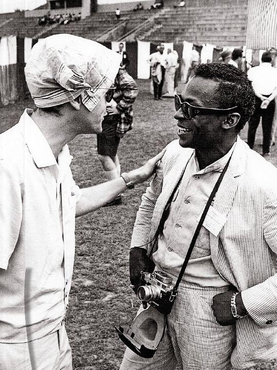 Michel Legrand with Miles Davis, Newport Jazz Festival, 1958