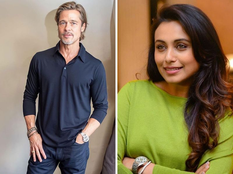 Rani Mukherjee and Brad Pitt