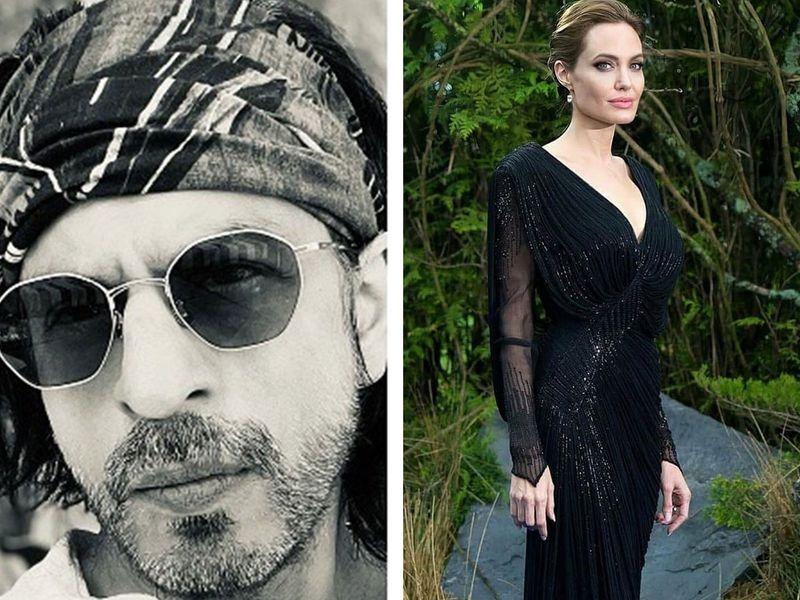 Shahrukh Khan and Angelina Jolie