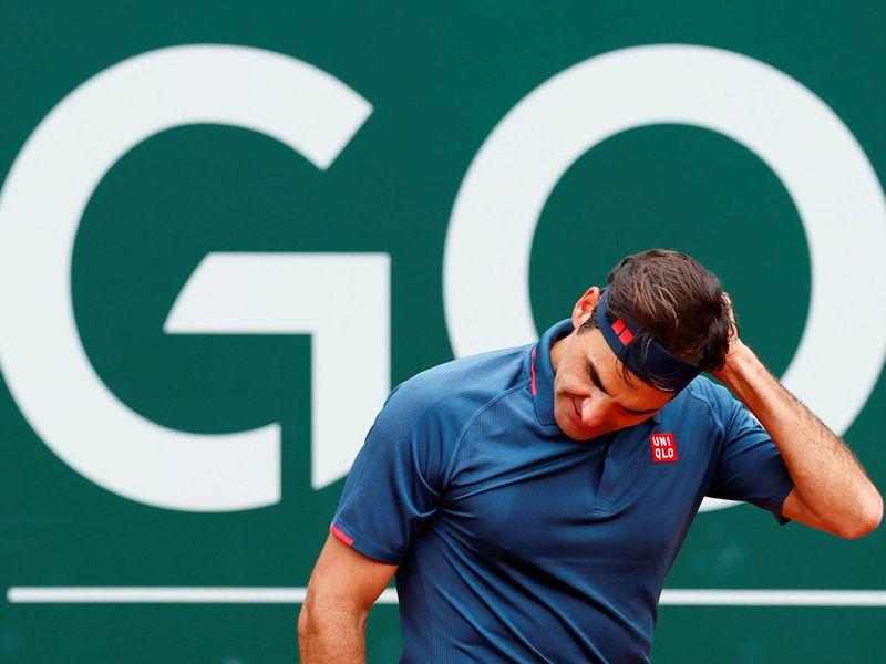 Switzerland's Roger Federer lost to Spain's Pablo Andujar