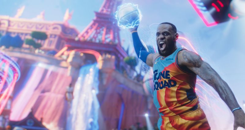 Lebron James in a scene from