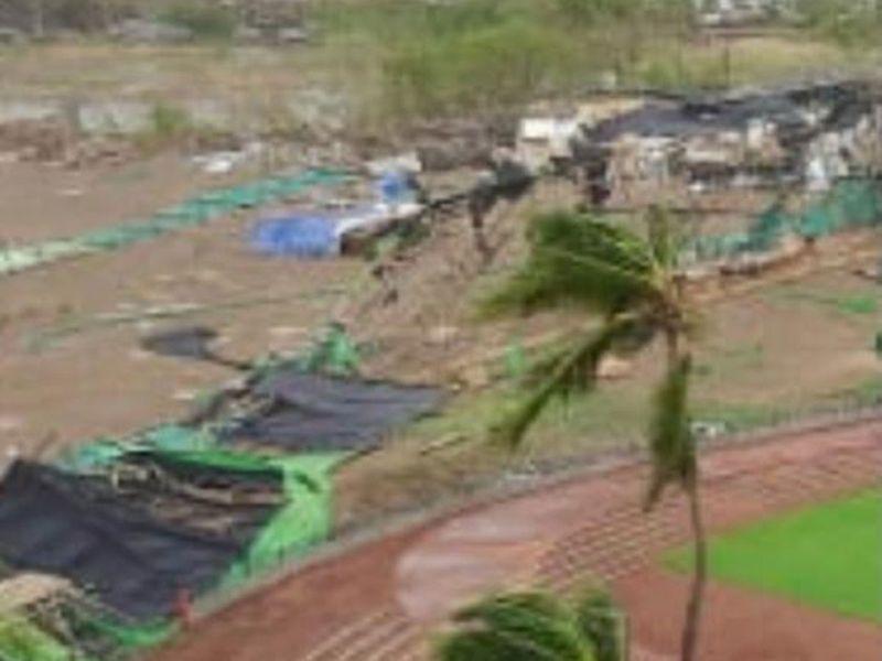 Maidaan set destroyed by rains