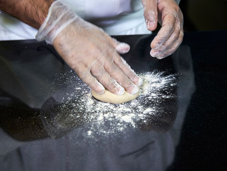 Rolling technique for stuffed paratha