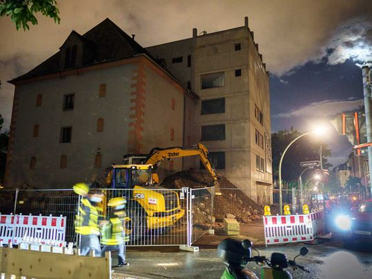 World War bomb Germany Frankfurt detonate