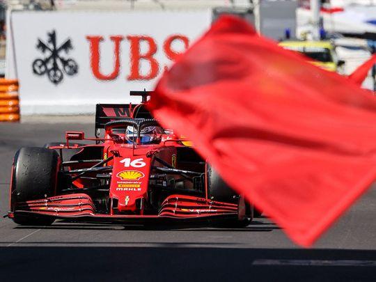 Ferrari's Charles Leclerc was fastest in FP2 at Monaco
