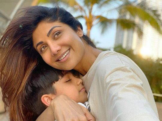 Shilpa Shetty with her son Viaan