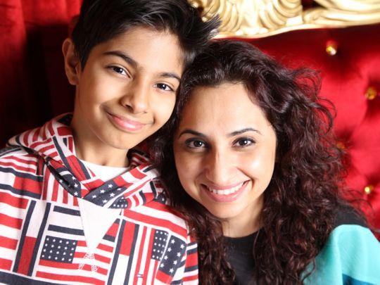 NAT Moksh Parwani and his mother-1621660022727