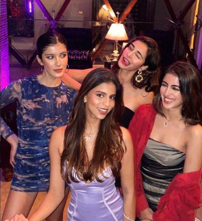 Shanaya Kapoor, Ananya Panday, Navya Naveli and Suhana Khan