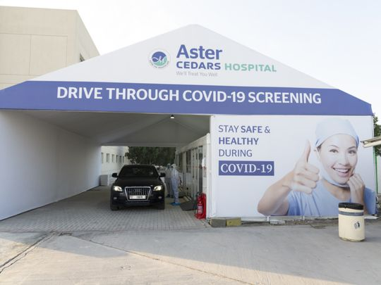 Aster Hospital & Clinic Drive through Covid-19 test centre-1621765996170