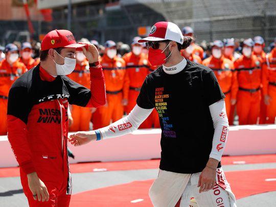 Charles Leclerc before the Monaco Grand Prix