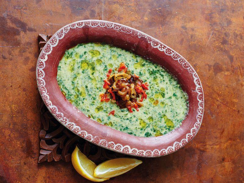 Ancient Broad Bean & Jute Mallow Dip (Teta Najla's Besara)