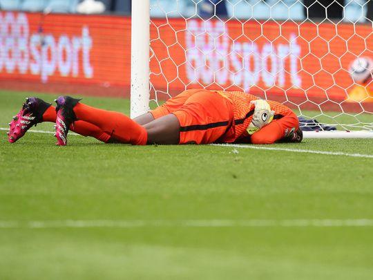 Chelsea's Edouard Mendy sustained the injury against Aston Villa