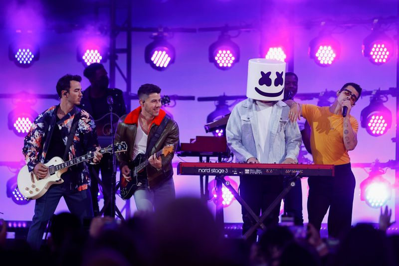 Jonas Brothers with Marshmello