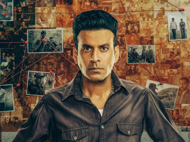 Manoj Bajpayee in the poster for 'The Family Man 2'