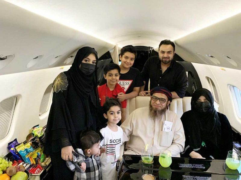 Mushtaque and his family private jet
