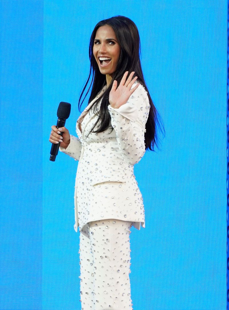 Padma Lakshmi introduces a performance by BTS at the Billboard Music Awards on Sunday, May 23, 2021, at the Microsoft Theater in Los Angeles.