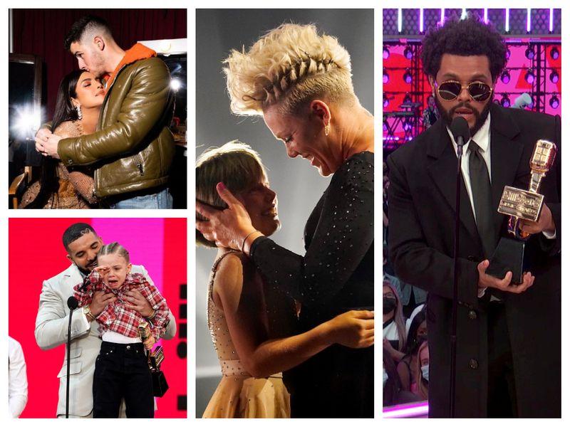 Priyanka Chopra and Nick Jonas, Drake with son Adonis, Pink with daughter Willow, The Weeknd