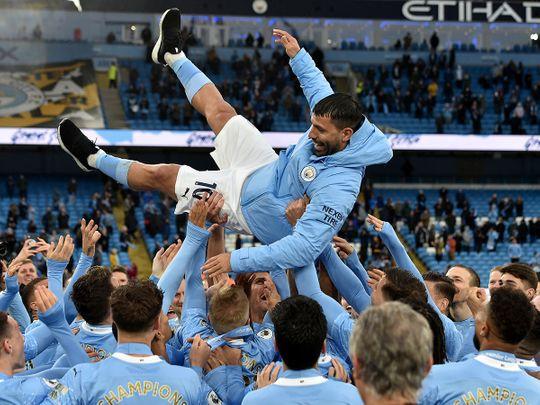 Sergio Aguero is hailed by his City teammates
