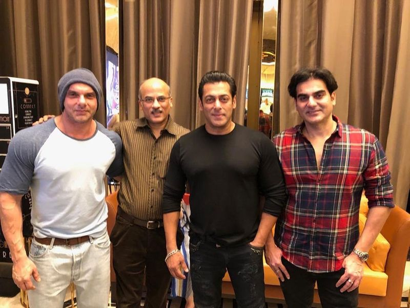 Sohail Khan , Sooraj Barjatya, Salman Khan and Arbaz Khan