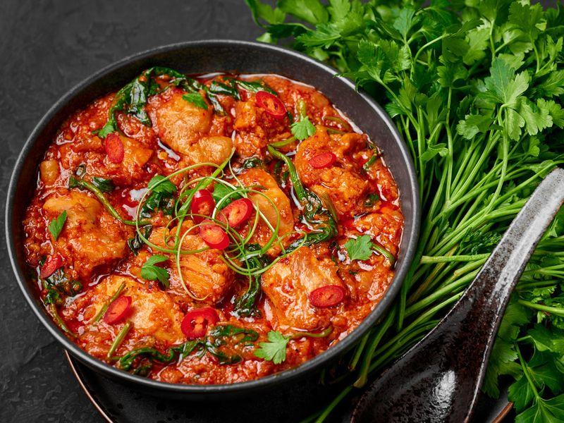 Chicken vindaloo from Goa