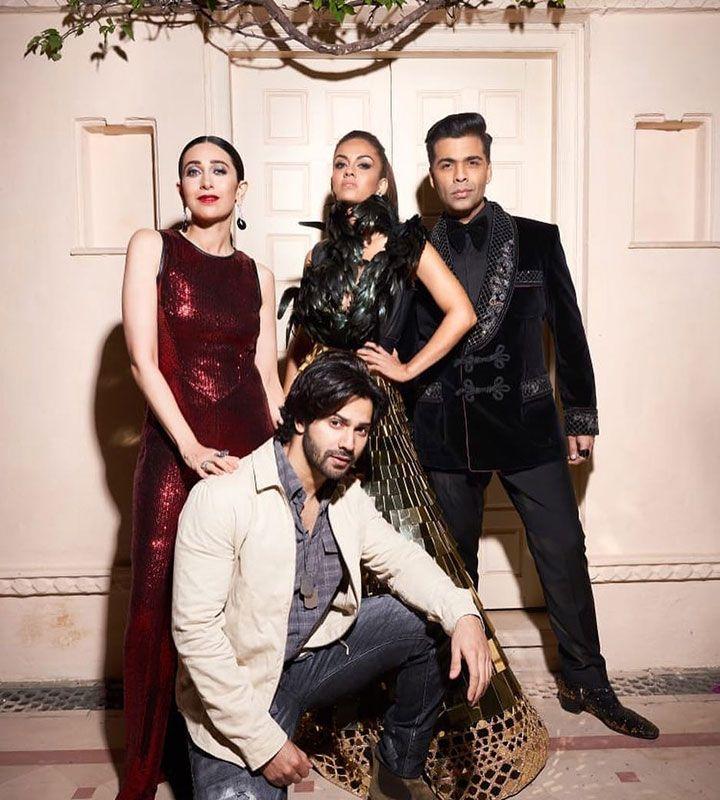 Karan Johar, Kareena Kapoor, Varun Dhawan and Natasha Poonawala