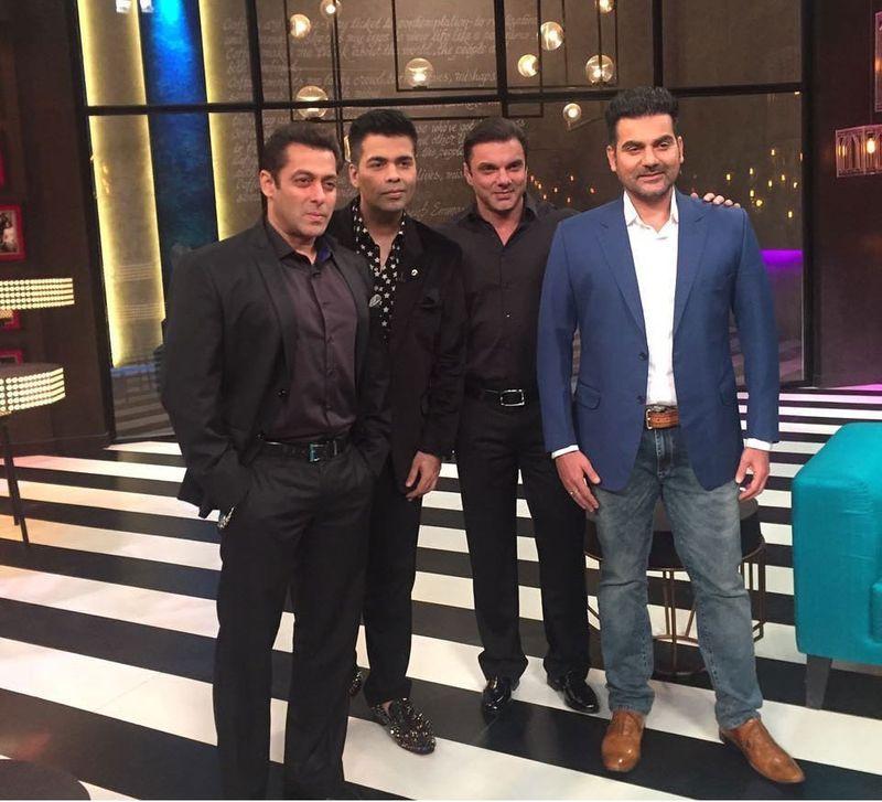 Karan Johar, Salman Khan, Arbaaz Khan and Sohail Khan