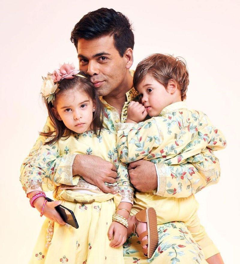 Karan Johar with his twins