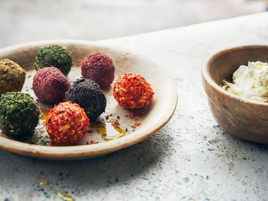 Labneh balls, Extracted from Falastin: A Cookbook by Sami Tamimi and Tara Wigley