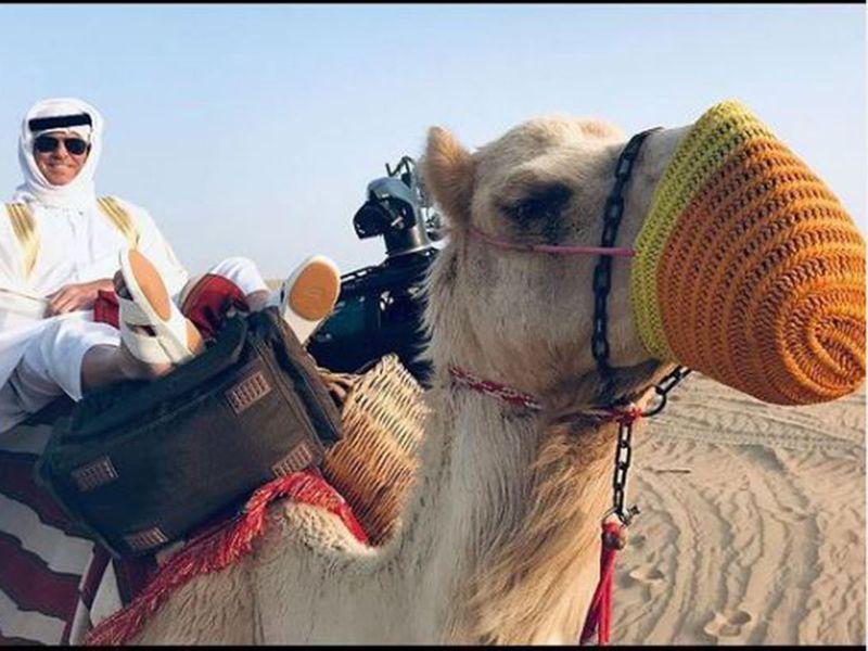 Pierce Brosnan in Dubai desert