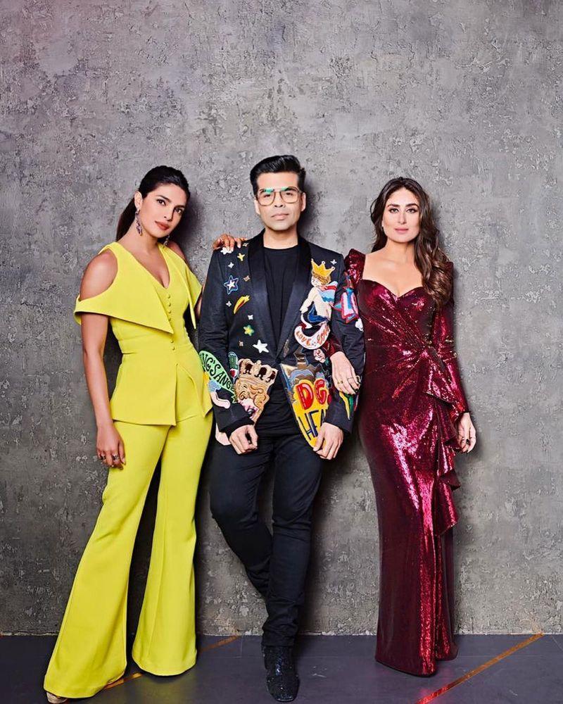 Priyanka Chopra, Karan Johar and Kareena Kapoor