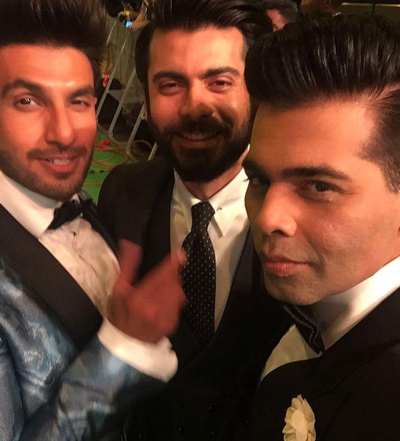 Ranveer Singh, Fawad Khan and Karan Johar