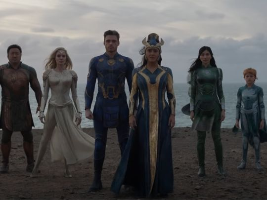 Still from trailer for 'The Eternals'