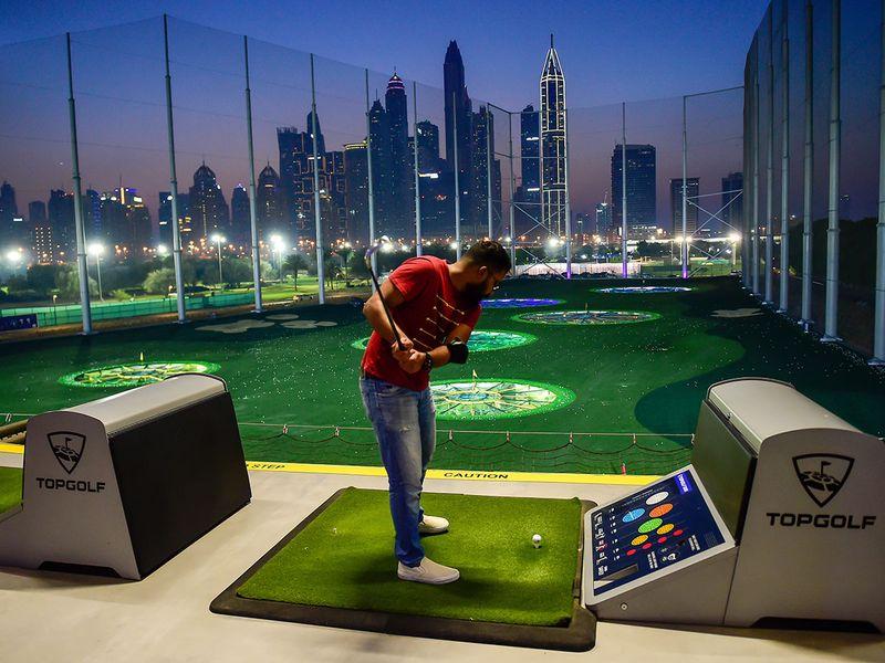 Topgolf Dubai has fantastic views