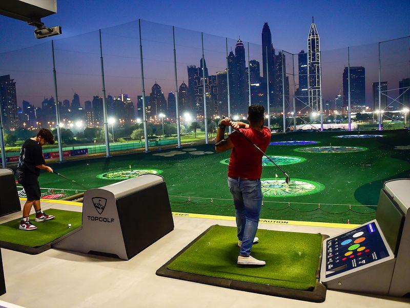 Topgolf at Emirates Golf Club in Dubai