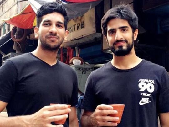 Emirati Ahmed Kazim, right, and Indian expat Justin Joseph, founders of Project Chaiwala