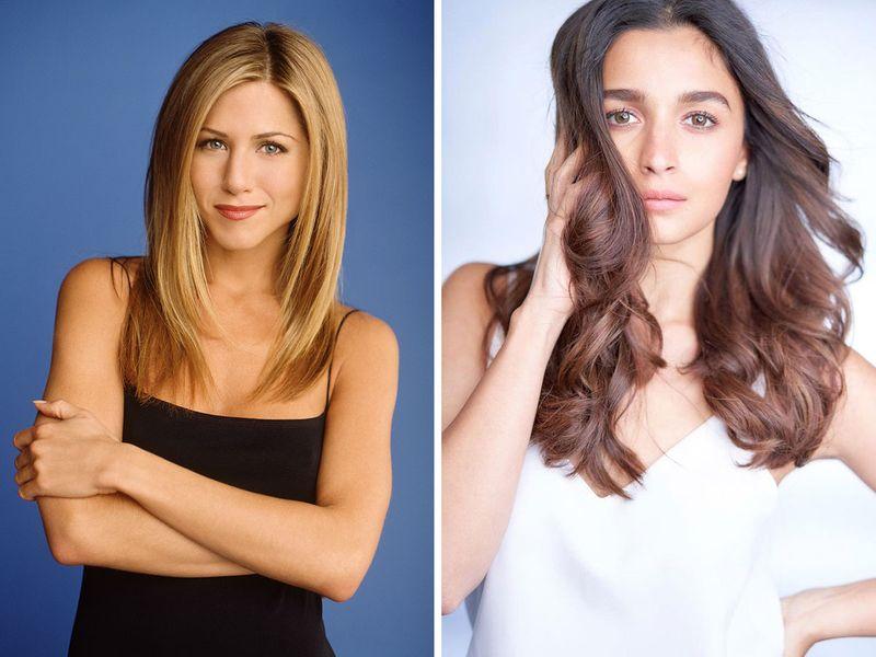 Jennifer Aniston (Rachel Green) and Alia Bhatt