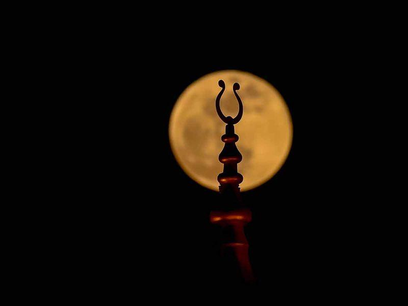 Super moon in Sharjah