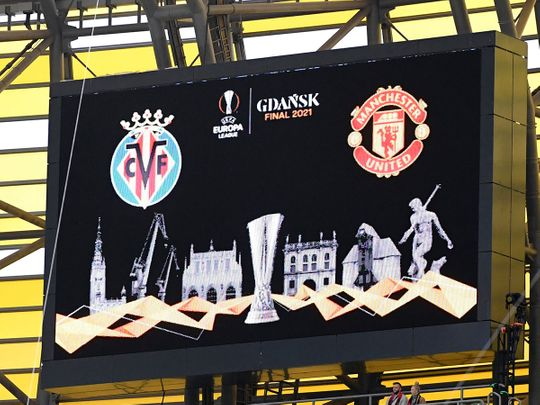 The Europa League final match between Manchester United and Villarreal in Gdansk, Poland