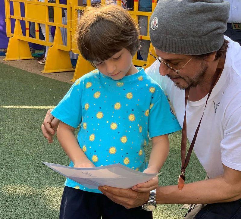 AbRam and Shahrukh Khan