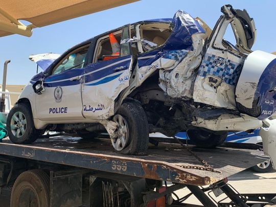 Car crash that resulted in the officer's death