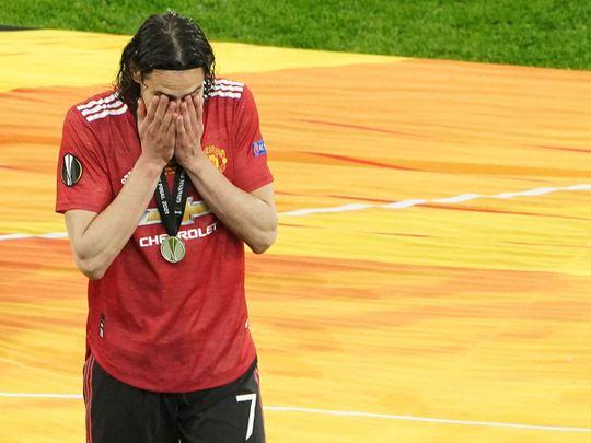 Edinson Cavani after Manchester United lost the Europa League final to Villarreal