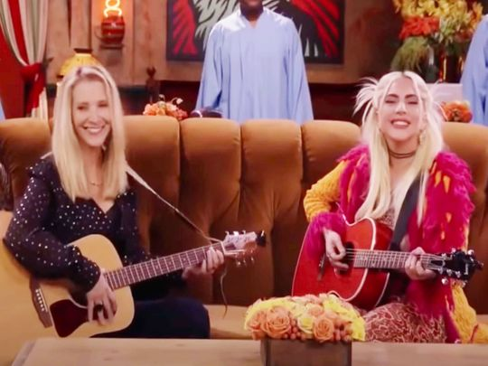 Lisa Kudrow and Lady Gaga on Friends: The Reunion