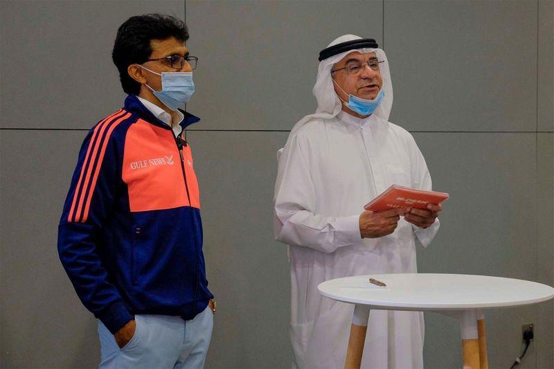 Mr. Abdul Hamid Ahmad, CEO, Gulf News and Mr Cricket UAE, Mr. Anis Sajan