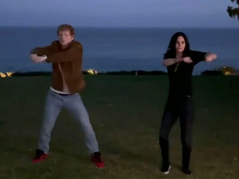 Ed Sheeran and Courteney Cox